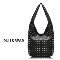 PULL&BEAR 2014 Hot New Design Women Fashion Rivet Motorcycle Handbags PU Leather FREE SHIPPING