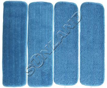 50pcs 45cmx13cm Deep Clean Mop Head Mops Refill Mop Replacement Pads  w/ Velcro WET Mops Refill