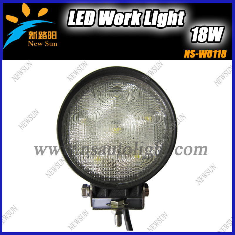 New 12V LED Work Light 18W Round Flood Offroad For Car Vehicle Boat Tractor ATV UTV Reverse Jeep Truck 4x4 Black free shipping(China (Mainland))