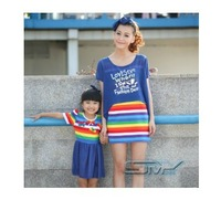 For 2014 summer family fashion set mother and daughter clothes fashion family clothing suits