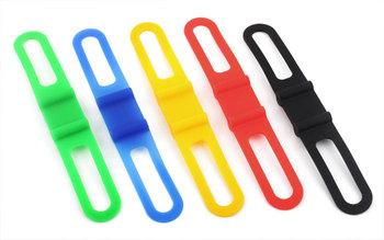 3pcs Silicone Bicycle Parts Holder Mount Tie Strap Bandage  #3124