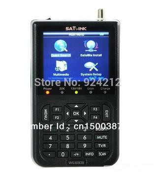 "New SatLink WS-6908 LCD DVB-S FTA Professional Digital Satellite Signal Finder Meter ts  3.5"" LCD"