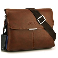 Free shipping 2013 hot Designer men's handbags Genuine Leather POLO messenger bags high quality big Brand briefcase shoulder bag