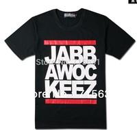 2014 Fashion Men's Mew Jabbawockeez hip-hop essential printing short-sleeve T-shirt, Black and White M L XL