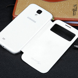 Battery Housing Leather Case For Samsung Galaxy S4 i9500 SIV Back Cover Flip, with Retail Box, Free Screen Protector(China (Mainland))