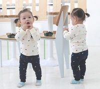 2014 New Arrive Toddlers Sweatsuits Longsleeve Animal Blouses Casual Pants Sets Baby Girls Clothing Free Shipping