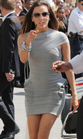 Wholesale High Quality Celebrity Dresses Eva Gray Bandage Bodycon Dress 2013 New Evening Party Dress