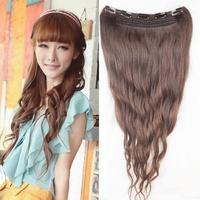 Free shipping a chip hair wig piece of real hair, long hair curly hair