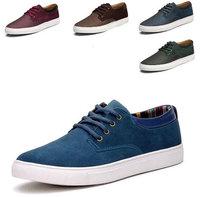2014 new arrive men's casual sneakers for men Genuine Leather shoes canvas shoes BIG SIZE EUR 38-47 JT201