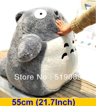 "Free Shipping 55cm(21.7"") Totoro Plush Stuffed Toys,Miyazaki Hayao My Neighbor Totoro Plush Toys For Girl Friend&Birthday Gift"