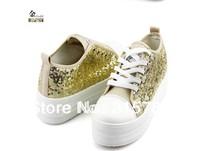 FreeShipping 2013 new fashion pearl shoes for women,wedge heel casual shoes,women's sports shoes low heel women shoes
