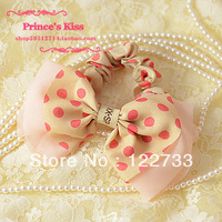 Hair accessory hair accessory elegant chiffon polka dot headband rubber band hair rope tousheng hair accessory