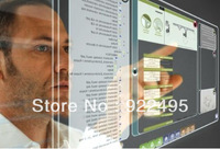 FREE SHIPPING 19 inch Interactive Dual touch foil through glass,Transparent , Multi points touch