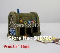 New Krusty Krab Sponge Bob Bikini Bottom Sponge Bob Resin Aquarium Ornament Decor 9cm H Free Shipping