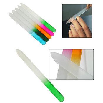 10Pcs/lot Durable Crystal Glass Nail File Buffer Art Files Tool #5729