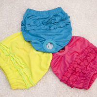Free Shipping Pet Clothes 100% Cotton Female Dog Physiological Pants Dog Shorts Menstrual Pants