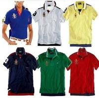Free shipping men's short-sleeved lapel    T shirt, fashion, 100% cotton, two hue fight popular models