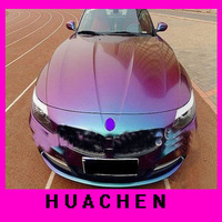High quality Vehicle wrapping film chameleon color change vinyl sticker 1.52X30M(air free bubbles)