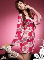 Free shipping 2013 New Style Sexy Lingerie Cosplay Kimono Floral Print Dress Sleepwear Costumes Uniform Temptation Hot Wholesale