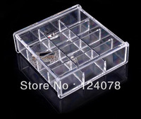 New Acrylic Jewelry Organizer dressing case Crystal jewelry box Cosmetic Storage Cube Gift/Present SF-1026