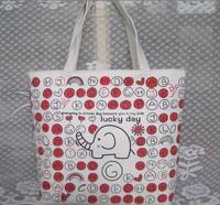 Letter circleof canvas bags shopping bag shoulder bag tote HANDBAGS FOR women cute girl