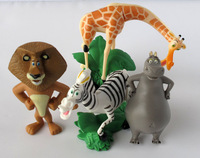 Madagascar Alex  figures toy set of 4pc new