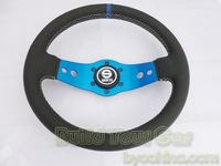 Free Shipping---New Style Sparco Leather Steering Wheel ,13 inch