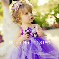 Purple junior bridesmaid dresses, little girls dress,the children's dresses 1025 Sunlun Free Shipping 2013 New Arrival