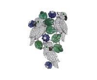 925 sterling silver plated, yao-wei parrot brooch