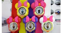 Free Shipping 10pcs/lot Wholesale - Tape Slap Snap Minnie Watch Watches Fashion Sport With 8 colours available for Children