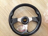 Momo steering wheel 13 PU modified steering wheel automobile race steering wheel cherry wood color PU steering wheel general