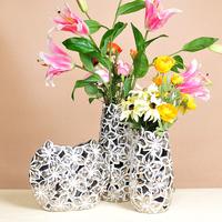 Modern brief ceramic vase piece set countertop vase sculpture set vase decoration  / msg adjust shipping fee