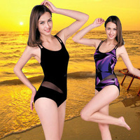Women's hot spring swimsuit triangle one piece swimwear