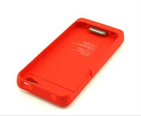 Battery Pack Power Station for Apple Iphone 4/4S with Protective Back Cover Go Portable Case Charger (1900mah  Red)