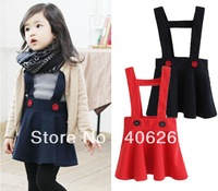 free shipping  2013 best quality spring& fall  children's skirt girl's suspender skirt one-piece