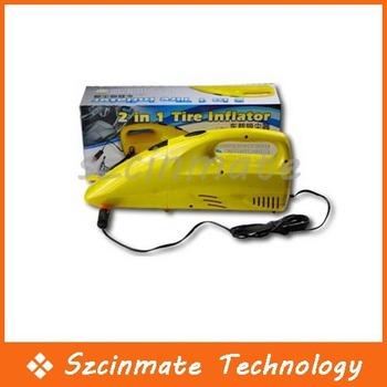2 IN 1 Portable Handheld Car Vacuum Cleaner Inflator Air Compressor