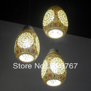 Ceramic pendant light Manufacture of manual hollow out(China (Mainland))