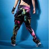 Hip hop pants Jazz Wide leg pants dance  Ds doodle Spring and summer Loose Neon candy color