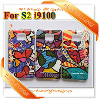 10pcs/lot Colorfull Graffiti Abstract Painter Cartoon Brazil Cases For Samsung Galaxy S2 i9100 Freeshipping