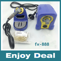 HOT SALE!!!220V HAKKO FX-888 fx888 888 Solder Soldering Iron Station with 10 Free tips 900M-T