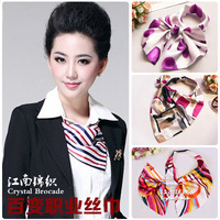 Variety magic silk scarf work uniforms small facecloth customer service front desk scarf
