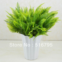 Green plant  artificial grass plastic artificial flower Persia leaf fern,home furnishings deroration wedding decoration