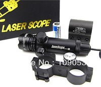 Super Power Tactical Strike Head Adjustable 532nm Green Laser Sight Scope With 2 Mounts +2 Switches 1PCS/Free Shipping