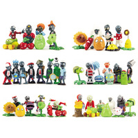 Free shipping 52pcs/set Plants VS Zombies PVC Collection Figures all the plant and zombies figure OPP retail package