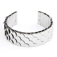 New Fashion Euro American Punk Metal Fish Scales Cuff Bangle/Bracelet for Women&Men Wholesale