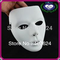 20pcs/lot Free Shipping Wholesale Halloween Party Mask Masquerade Men Hip Hop Dance Costume White Color PVC Jabbawockeez Mask