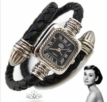 wholesale 50pcs/lot Punk style retro Rome bracelet wrist watch fashion watch for lady+Fedex/EMS  Free shipping