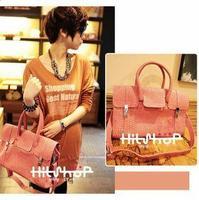 women's stone lines  handbag messenger bag ladies briefcase vintage stylish shoulder bags