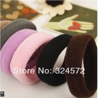 headband hair ties rope Ponytail Holer hair accessories 100Pcs/ Lot Free Shipping Candy color Hair Elastic band Cotton Seamless