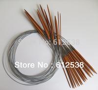 "Knitting Needles hand needle 14 Pairs 79.5cm(32"")  Circular Smooth Bamboo Knitting Needles Sets 2.25mm - 9mm Size"